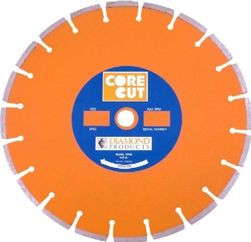Diamond Products Core Cut 11893 20-Inch by 0125 by 1-Inch Heavy Duty Orange Dry or Wet Masonry Blade