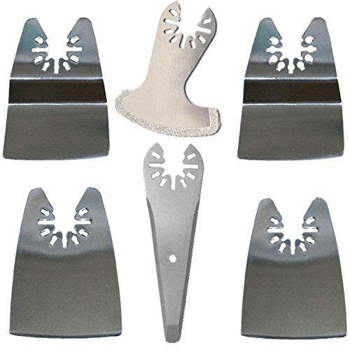 ZFE Scraper Blade Mix Oscillating MultiTool Blade for Rockwell Fein Bosch Ryobi Dremel Makita Multimaster Multifunction Tools Pack of 6Pcs