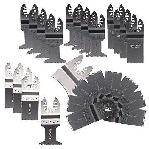 BABAN Universal Oscillating Multitool Saw Blade Set 25 Items