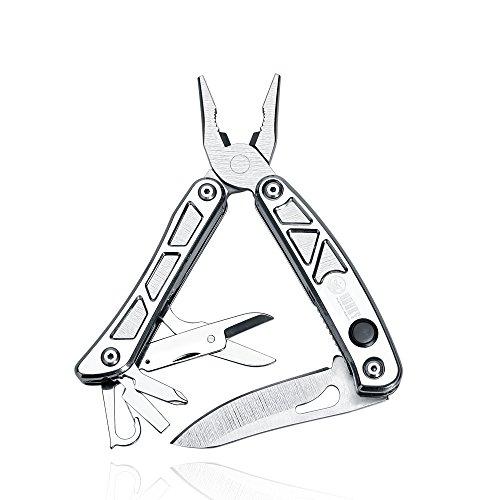 KUBEY Pocket Multi-tool Knife Kit Set with PliersScissorsSheath More