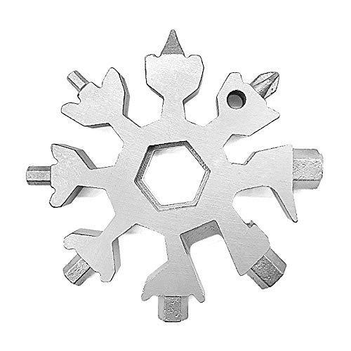18-in-1 Snowflakes Multi-Tool Stainless Steel Keychain Multi-Tool Combination Bottle Opener Incredible Tool