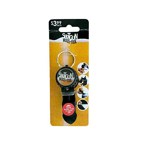 Kole Imports Shotgun Drinking Multi-Tool Keychain