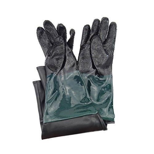 Jewboer 236 Rubber Sandblasting Sandblaster Gloves for Sandblast Cabinets
