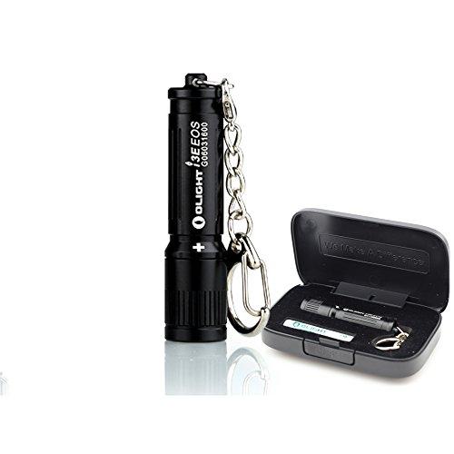 Bundle Olight I3E Gift Box Edition LUXEON TX LED 90 Lumens keychain Flashlight Use AAA battery Black