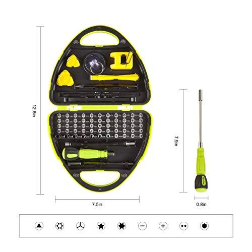 Multifunctional precision screwdriver kit 67-in-1 screwdriver kit with magnetizer sucker triangular tilt crowbar tweezers suitable for professional repair of computerIphoneXboxwatchcamera