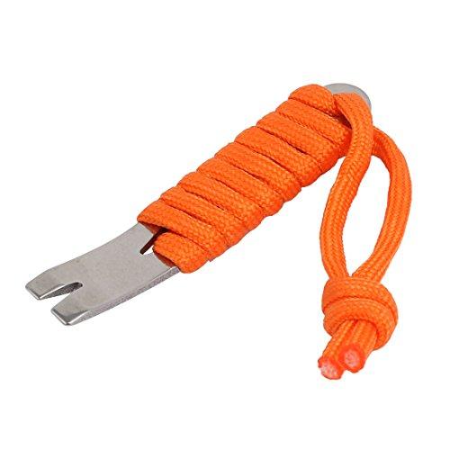 uxcell Outdoor Crowbars Multi-Function EDC Mini Survival Tools Keychain w Orange Handle
