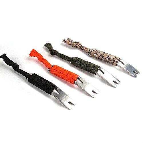 C-Pioneer 1PC Portable Stainless Steel Pry Bar Pocket EDC Tool Survival Scraper-Random Color