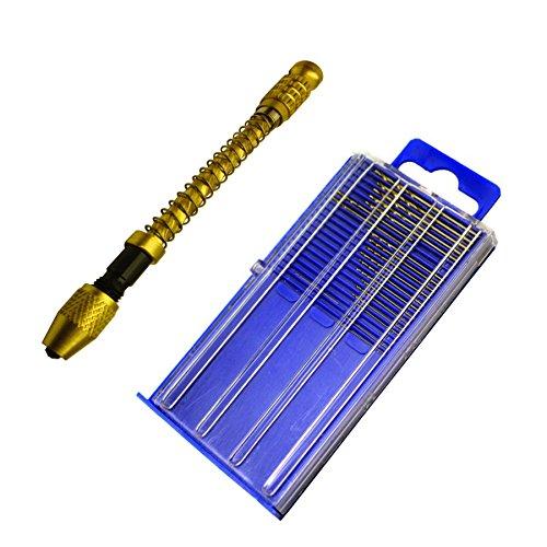 20pc Micro HSS Mini Twist Drills Archimedes Swivel Head Pin Vice Watch Maker