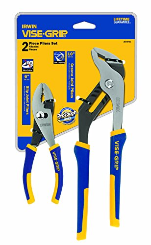 IRWIN Tools VISE-GRIP Pliers Set 6-Inch Slip Joint and 10-Inch Groove Joint 2078701