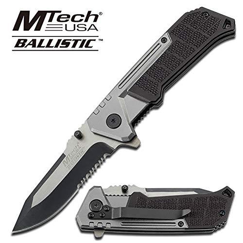 Mtech GreyBlack Spring Assist Assisted Folder Pocket Knife Knives A807GY  Free eBook by OnlyUS