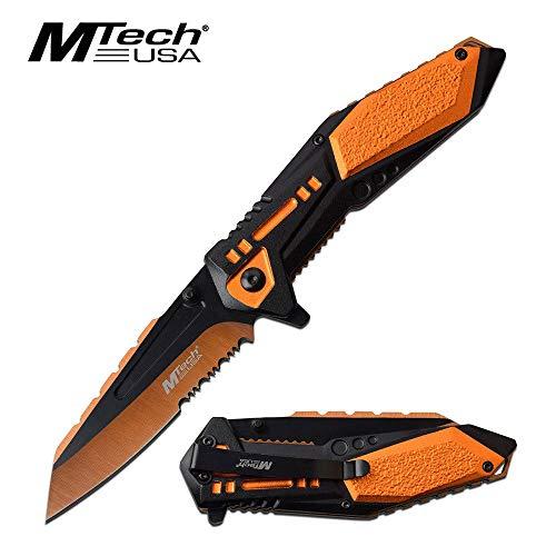Mtech OrangeBlack Spring Assist Assisted Folder Pocket Knife Knives A1011OR  Free eBook by OnlyUS