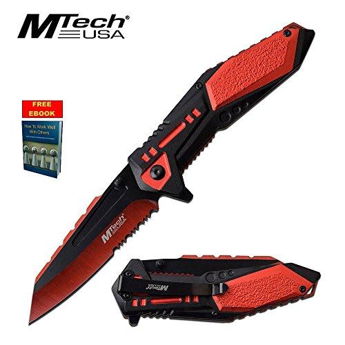 Mtech RedBlack Spring Assist Assisted Folder Pocket Knife Knives A1011RD  Free eBook by OnlyUS