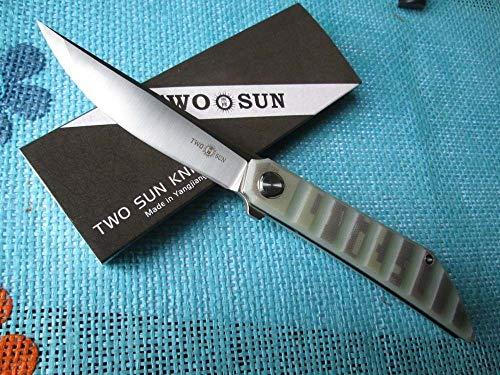 TwoSun Knives Survival Outdoor Camo G10 D2 Blade Folder Pocket Knife TS62