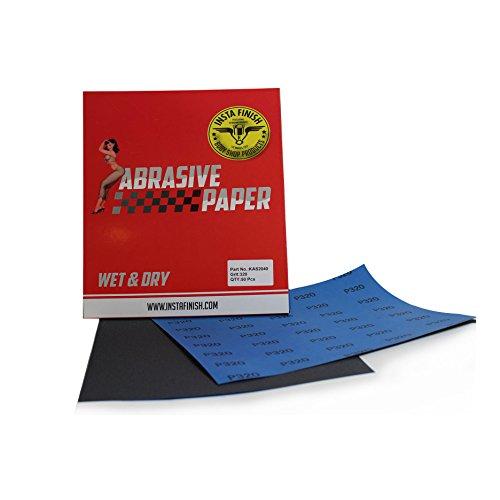 Insta Finish Sonbateh WetDry Sheet Sandpaper Multi Grit 9 in x 11 in KAS-2021 220 Grit 50 Sheets