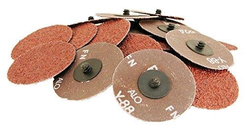 3 inch 24 Grit Roloc Roll Lock Type Abrasive Sanding Discs 25 pcs