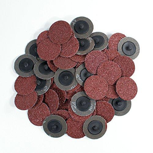 2 inch 24 Grit Roloc Roll Lock Type Abrasive Sanding Discs 50 pcs