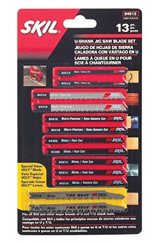 SKIL 94913 U-shank Jigsaw Blade Set 13 Piece