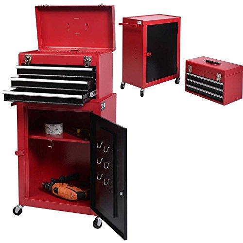 1 set Mini Tool Chest Cabinet Storage Box Rolling Garage Toolbox Organizer New