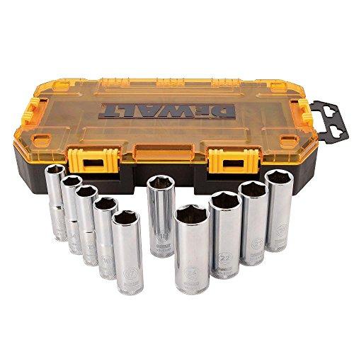 DEWALT DWMT73815  Metric Drive Deep Socket Set 10 Piece 12