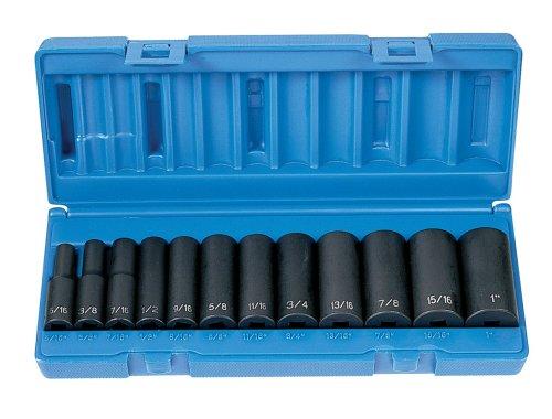 Grey Pneumatic 1213D 38 Drive 12-Piece Deep Socket Set