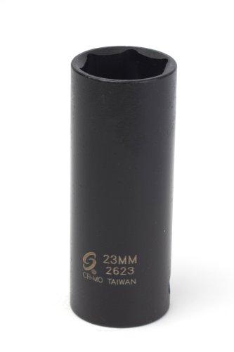 Sunex 2623 12-Inch Drive 23-Mm Extra Thin Wall Deep Impact Socket