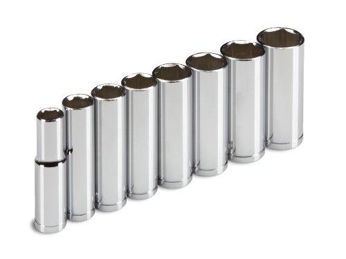 TEKTON 1230 38-Inch Drive Deep Socket Set Metric 10 mm - 19 mm 8-Sockets