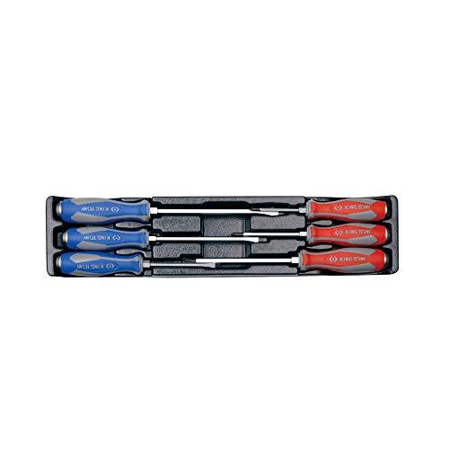 King Tony 930206MR Heavy Duty Screwdriver Set for Tool Trolley
