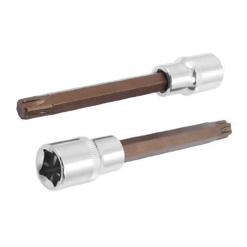 uxcell2 Pcs T52 512 Torx Head Screwdriver Link 12 Square Mechanic Drive Socket