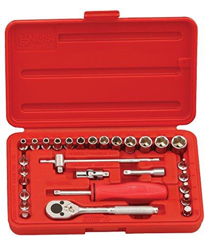 Genius Tools 29 Piece 14 Dr Metric Hand Socket Set GS-229M