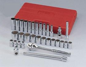 Genius Tools TW-432S 32PC 12 Dr SAE Hand Socket Set