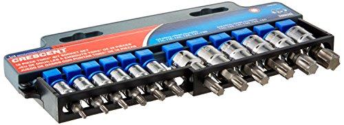 Crescent 12 Pc 14 38 Drive Torx Bit Socket Set - CBSS2N