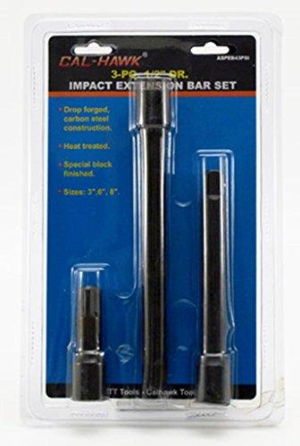 3 pc 12 Drive Air Impact Socket Extension Bar 3 6 8