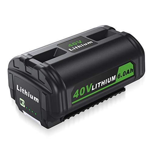 Ryobi 40V Battery 6000mAh Replacement Battery for Ryobi 40V RY40200 RY40403 RY40204 Cordless String Trimmer
