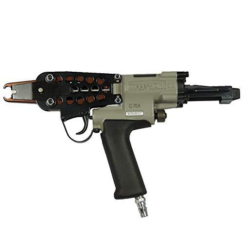 Woodpecker C-7EA 15 Gauge 34-Inch 70-80mm Closure Diameter C ring piler Pneumatic C Ring Tool Hog Ring Plier C ring gun for Mattress