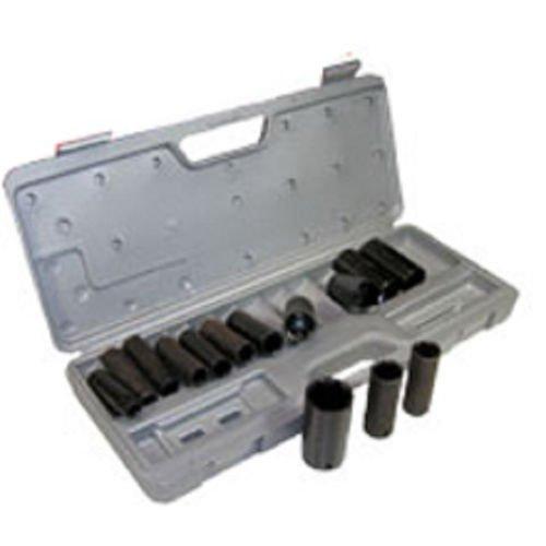 15pc 12 Metric 6pt Deep Impact Sockets Set Point STD MM Air Wrench TAIS0733M