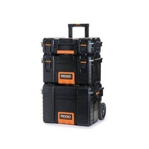 RIDGID Professional Tool Storage Cart and Organizer Stack 3 Tool Box Combination