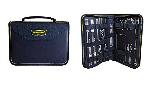Beschan Portable Tool Zippered Hard Board Case Bag Pouch with Handles