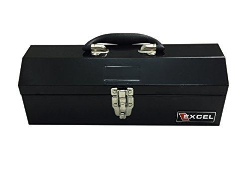Excel TB109-Black 14-Inch Portable Steel Tool Box Black