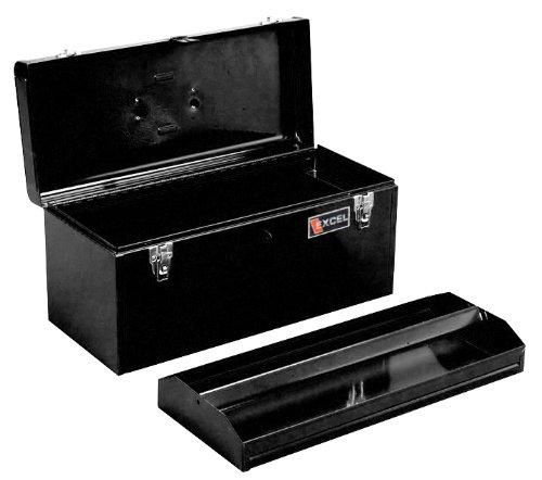 Excel TB140-Black 20-Inch Portable Steel Tool Box Black