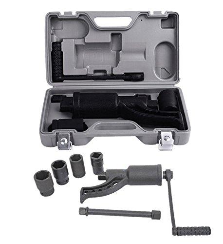 Comie Heavy Duty Torque Multiplier Set Wrench Lug Nut Labor Saving Wrench Lugnuts Remover Truck Trailer RV Semi 4pcs Sockets wCase