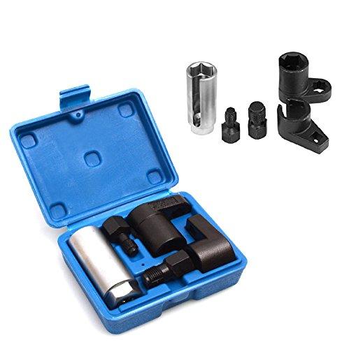 Mandydov 5pcs Set Oxygen Sensor Socket O2 Thread Chaser Install Offset Wrench Vacuum M12 M18 Tool Kit