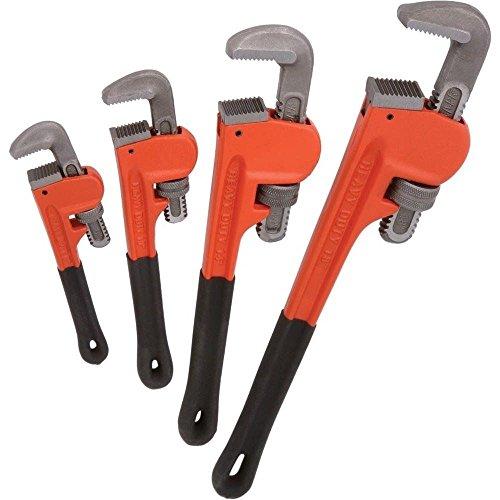 4pc Heavy Duty Pipe Wrench Set Monkey Heat Treated Adjustable 8 10 14 18 NEW