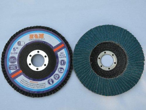 10pcs Premium FLAP DISCS 5 x 78 Zirconia 60 grit Grinding Wheel  grinder tool