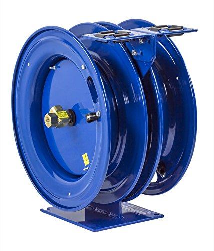Coxreels C-LPL-350-350 Dual Purpose Spring Rewind Hose Reel for airwateroil 38 ID 50 hose capacity each less hose 300 PSI