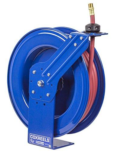 Coxreels SH-N-4100 Low Pressure Spring Rewind Hose Reel with Super HubTM 12 ID 100 hose capacity with hose 300 PSI