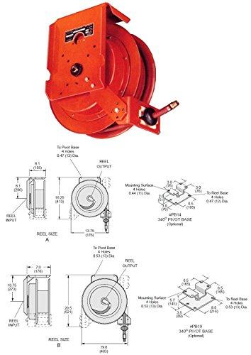 Gleason Model HG5035 Series H Heavy Duty Hose Reel for Machine Pull PN GRD-HG5035