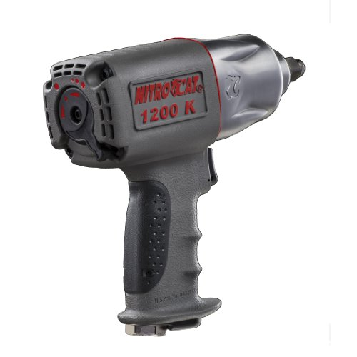 NitroCat 1200-K 12-Inch Kevlar Composite Air Impact Wrench With Twin Clutch Mechanism
