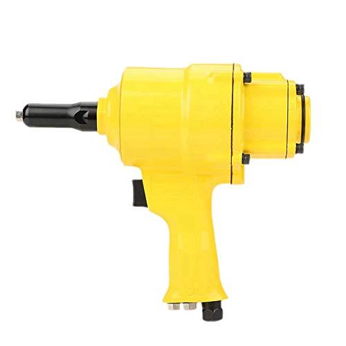 QWERTOUY Pneumatic Riveter Industrial Double Cylinder Type Air Riveter Pneumatic Nail Gun Riveting Tool