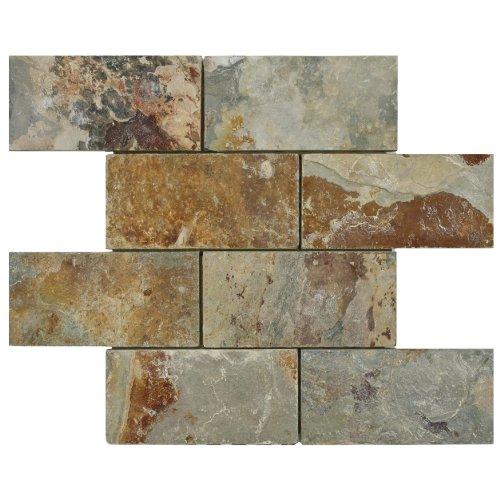SomerTile GDXCSWS Cliff Subway Sunset Stone Mosaic Wall Tile 1175 x 1175 GreyBrownRedOrange