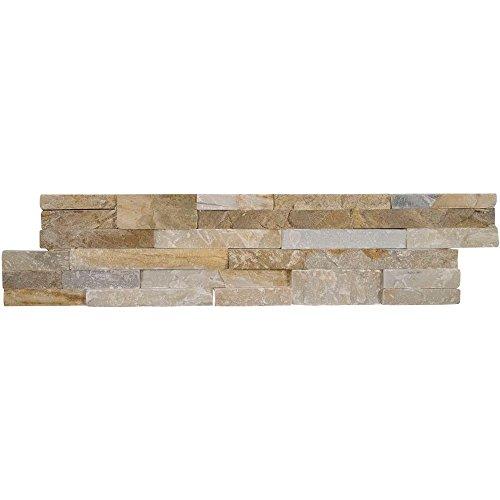 Vogue Peel Stick Golden Honey Quartzite Stacked Stone 2175 X 6 Wall Tile Fireplace Tile Backsplash Tile Bathroom Tile Easy DIY Tile Box of 15pcs